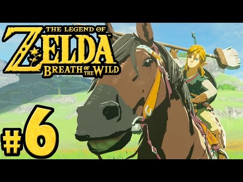 The Legend of Zelda Breath of the Wild PART 6 - Switch Gameplay Walkthrough - Horse Taming & Stable