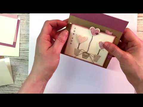 Vertical Greetings Gift Voucher Certificate Card   Stampin' Up!