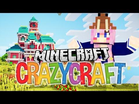Disney Castle!   Ep 3   Minecraft Crazy Craft 3.0