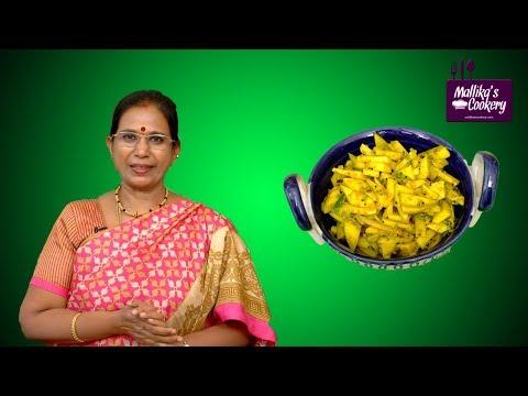 Green Chilli Mango Pickle |  Mallika Badrinath Recipes