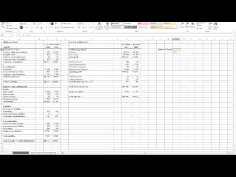Calculating Return on Sales in Excel