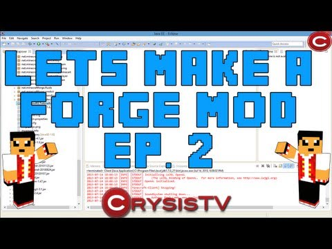 How To Make A Minecraft 1.6.2 Mod Ep. 2: Base Classes!! (Minecraft Forge Coding)