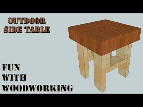 Project - How to make an easy outdoor side / end table out of 2x4's and 2x6's