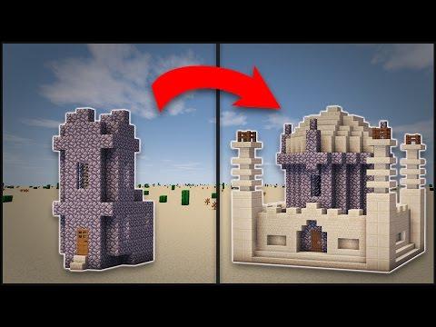 Minecraft: How To Transform A Desert Village Church (Mosque)