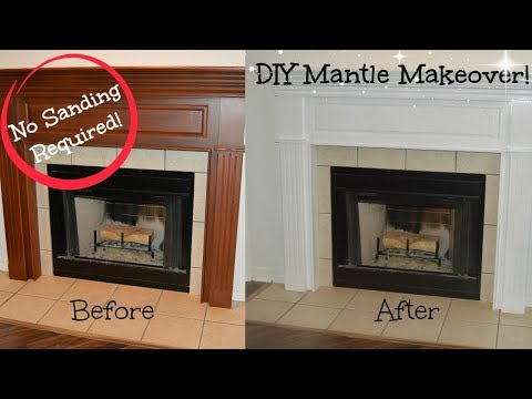 DIY Mantle Makeover | No Sanding Required!