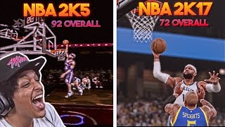 DUNKING WITH VINCE CARTER IN EVERY SINGLE NBA 2K GAME IN ONE VIDEO