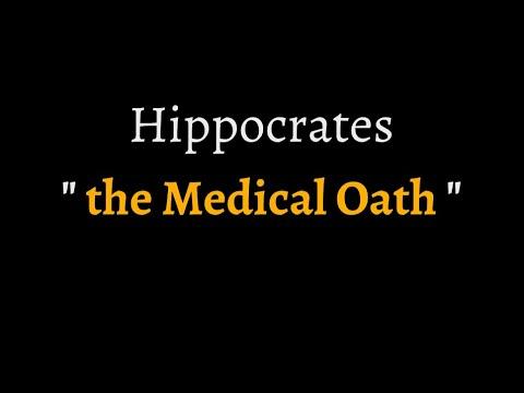 Hippocratic Oath (reconstructed ancient Greek pronunciation)