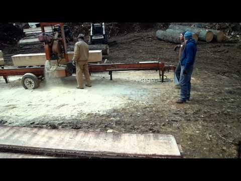 Milling white pine siding