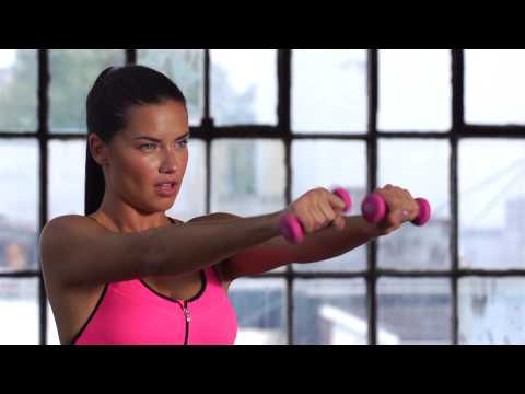 Train Like An Angel 2015: Adriana Lima Arm Workout