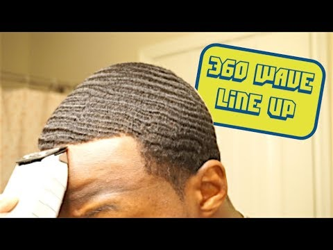 360 WAVE SELF CUT | HOW TO KEEP your Hairline SHARP while WOLFING! | 5 Week WOLF