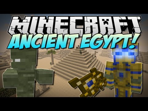 Minecraft | ANCIENT EGYPT! (Battle the Almighty Pharoah, Mummies & More!) | Mod Showcase [1.5.2]