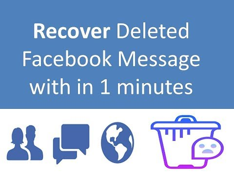 How to recover deleted Facebook messages  in 10 second ||2017
