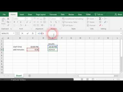 Using Excel to add time