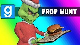 Gmod Prop Hunt Funny Moments - Hamburgers Vs. The Santa Claus (Garry
