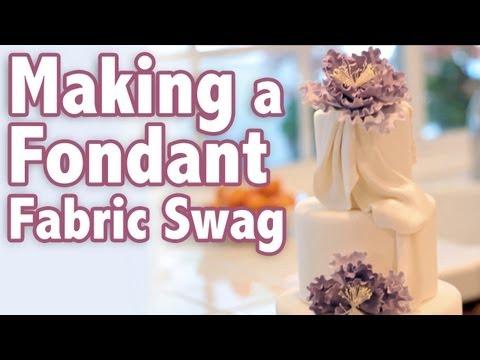 How to make a Fondant Fabric Swag | Cake Tutorial