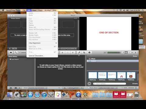 Podcast:  How to export PPT slides and import into iMovie