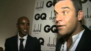 GQ Awards: Robbie Williams talks babies and Mo Farah reveals his favourite Robbie hit