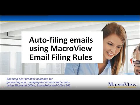 Auto Filing Emails to SharePoint