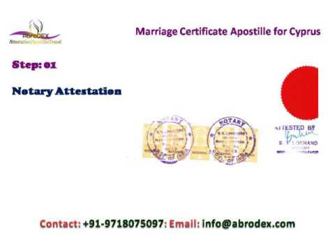 Marriage Certificate Apostille for Cyprus