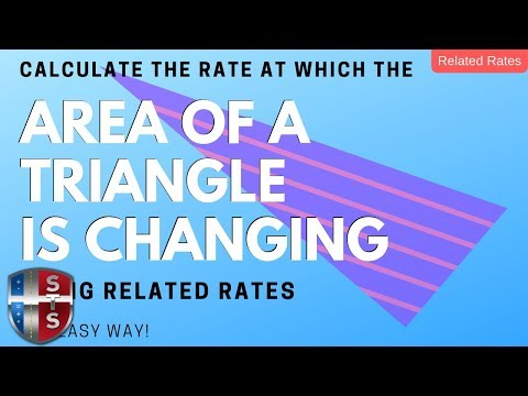 Calculus - Related Rates - Sliding Ladder - Triangle Area Analytics