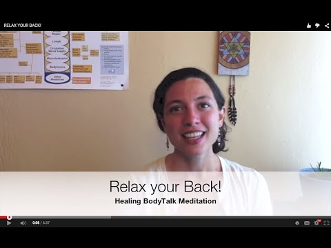 Relax your back: Healing BodyTalk Meditation to Relieve Tension