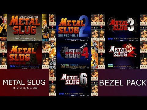 Metal Slug Series Bezel Pack for Mame (Animated and non animated Bezels)