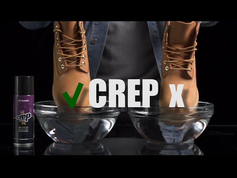 How to protect yellow boot timberland vs. Water - Crep protect spray -Test