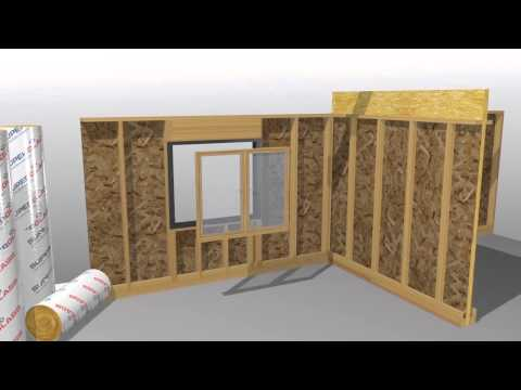 Superglass TF Party Wall Roll Insulation Animation