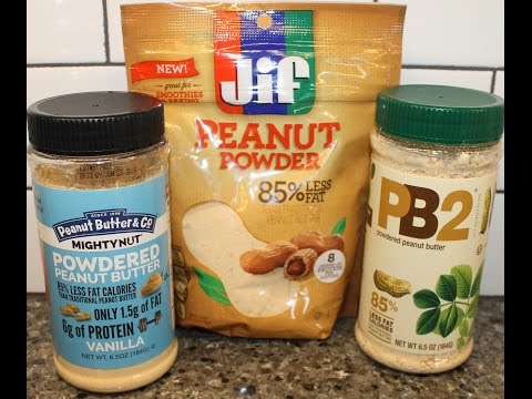 Peanut Butter & Co., JIF, & PB2: Powdered Peanut Butter Comparison