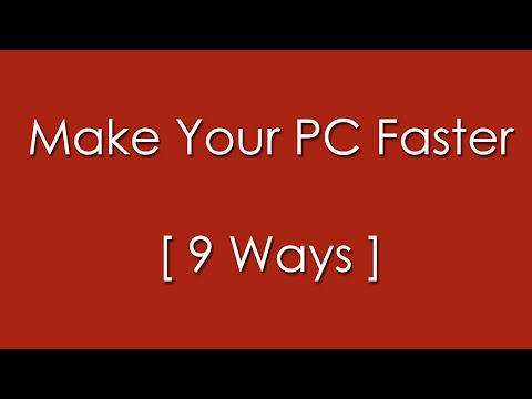 9 Ways to Make your Computer Run Faster