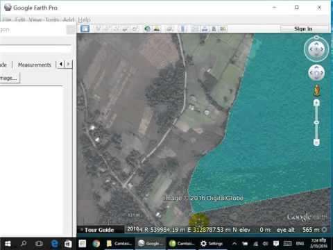 Create polygon and calculate area in google earth.