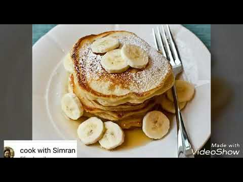 How to make banana pancakes without egg.. ||tasty.. ||delicious.. ||instant.. ||