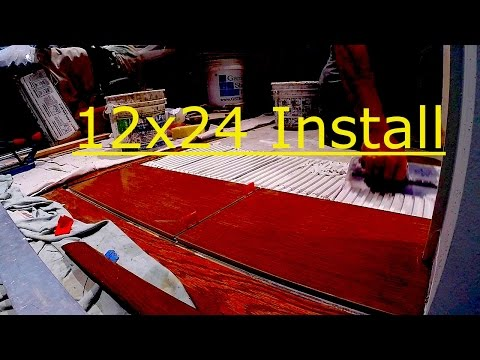Large Format Tile Installation (12x24)
