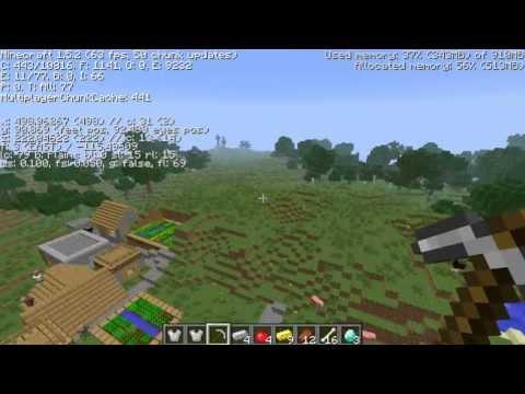 4] Epic Diamonds, triple ravines, npc village, jungle temple, mineshaft Minecraft seed 1.6.2