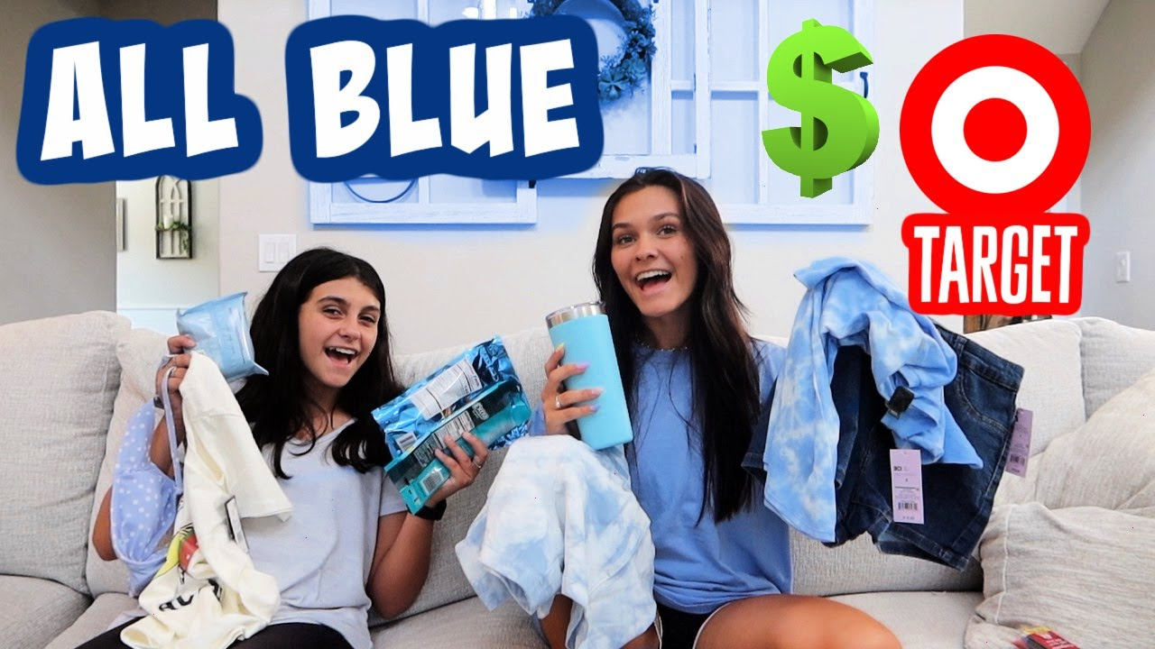 NO BUDGET SHOPPING AT TARGET *BLUE ONLY* SHOPPING SPREE! EMMA AND ELLIE