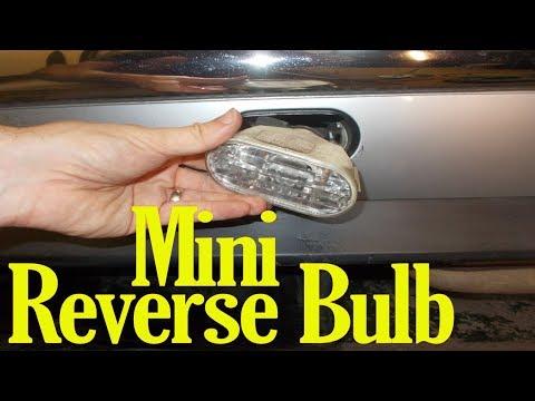 Mini reversing light bulb change