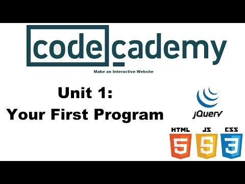 Make an Interactive Website: Your First Program