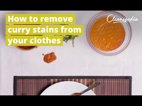 How to remove food stains from clothes?