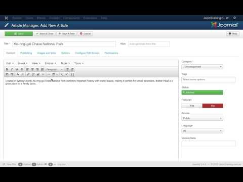 How to add and publish an article on your website with Joomla