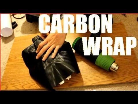 Wrapping RC body with 3M Carbon Fiber vinyl