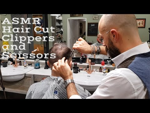 💈 - ASMR NO TALKING - Italian barber - Hair cut with clippers and scissors