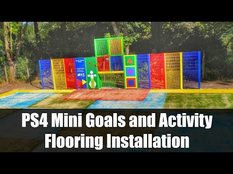 PS4 Mini Goals and Activity Flooring Installation