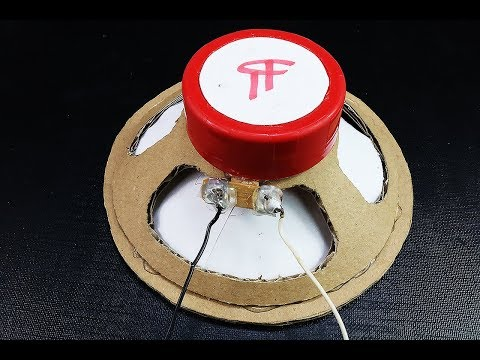 How to Make a Speaker at Home (Cardboard Speaker) - Easy