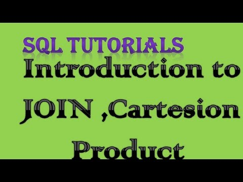 SQL Tutorial 13 Introduction to JOIN, cartesian product