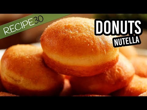 Home made Donuts with Nutella, easy recipe made from scratch