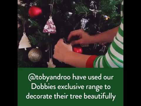 How to decorate your Christmas tree with our Dobbies exclusive collection