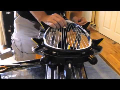 How to restring tennis, squash & badminton rackets.  Full step by step video tutorial