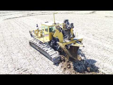 V Tile Plow Installing Contoured Drainage