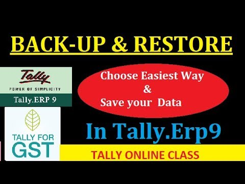 Backup & Restore Company in Tally.ERP9