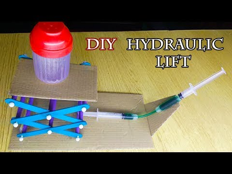 How to Make Mini Hydraulic Scissor Lift Table at Home from Popsicle Sticks